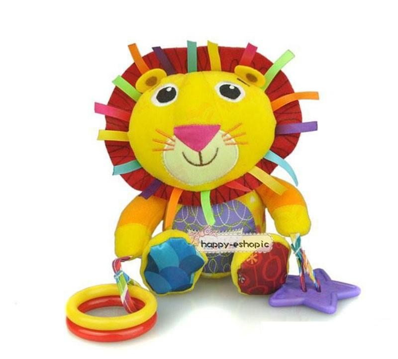 2015 New Baby Early Development Toy Toddler Kids Infant Educational Plush Toys Logan Lion, - Corner Store store