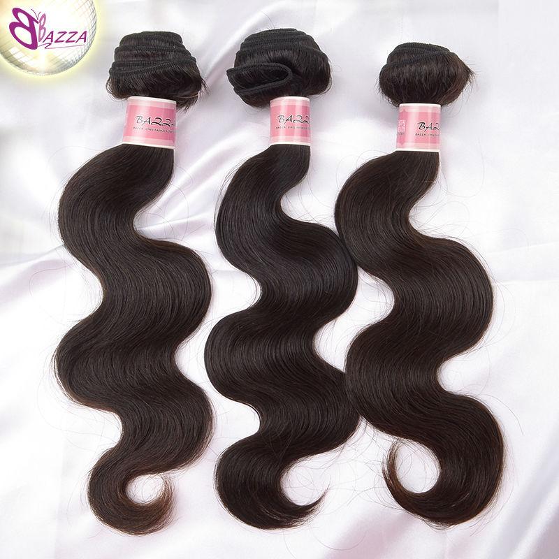 bazza high quality hair products body wave 3 bundles Malaysia human hair weaving in stock fashion hair free shipping(China (Mainland))