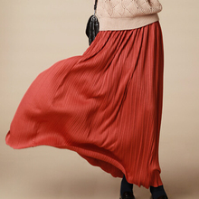 New summer fashion European women pleated skirt high waist solid women slim skirt
