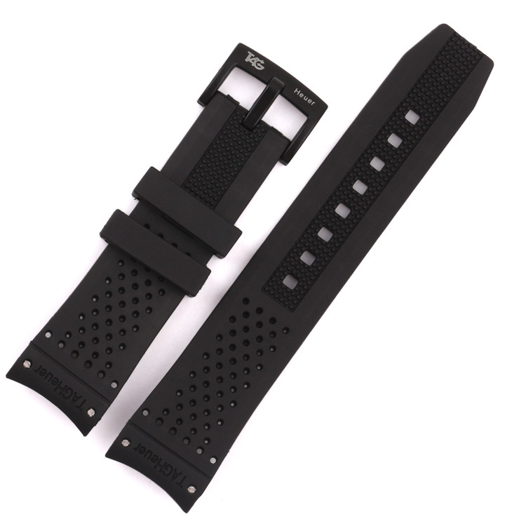 Watchband 22mm Black Silicone Rubber Diver Watch Band Strap Bracelets For Brand <br><br>Aliexpress