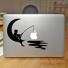 Buy Boy Fishing Moon Fun Laptop Decal Sticker Apple Macbook Air Pro Retina 11 12 13 15 Mac Notebook Case Cover Skin Sticker for $8.99 in AliExpress store