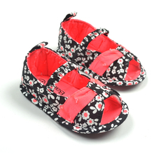 Baby Floral Sandals Toddlers Girl Flower Pattern Summer Shoes Infant 2014 New Fashion Soft Sole First Walkers Drop Free Ship(China (Mainland))