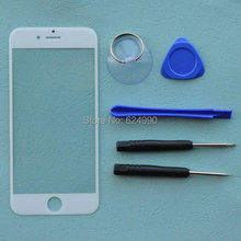 """Buy BINYEAE Front Outer Screen Glass Lens Cover Replacement Apple iPhone 6 6G 4.7"""" Touch Screen Repair Tools White Black for $3.00 in AliExpress store"""
