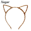 New Arrival Cat Ears Headband Handmade Hairband 6 Colors Hair Hoop Hair Accessories For Sexy Girls