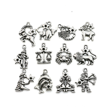 Buy 12pcs Antique Silver Plated Zodiac Constellation Charm Zinc Alloy Pendant Jewelry DIY Making Accessories Handmade 20mm for $1.69 in AliExpress store