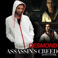 Assassins creed 3 DESMOND Cotton Jacket COSPLAY COSTUME Hoodie(China (Mainland))