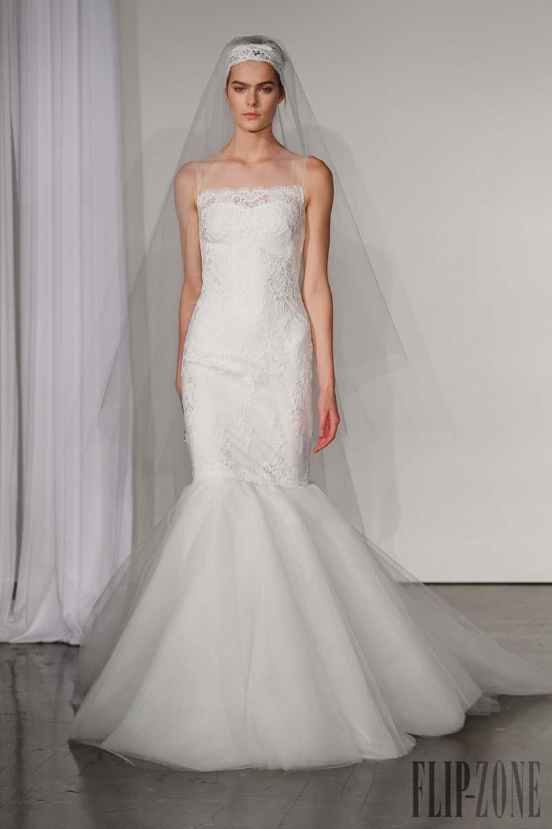 Simple design mermaid sweep train jewel sleeveless lace for Simple wedding dress design