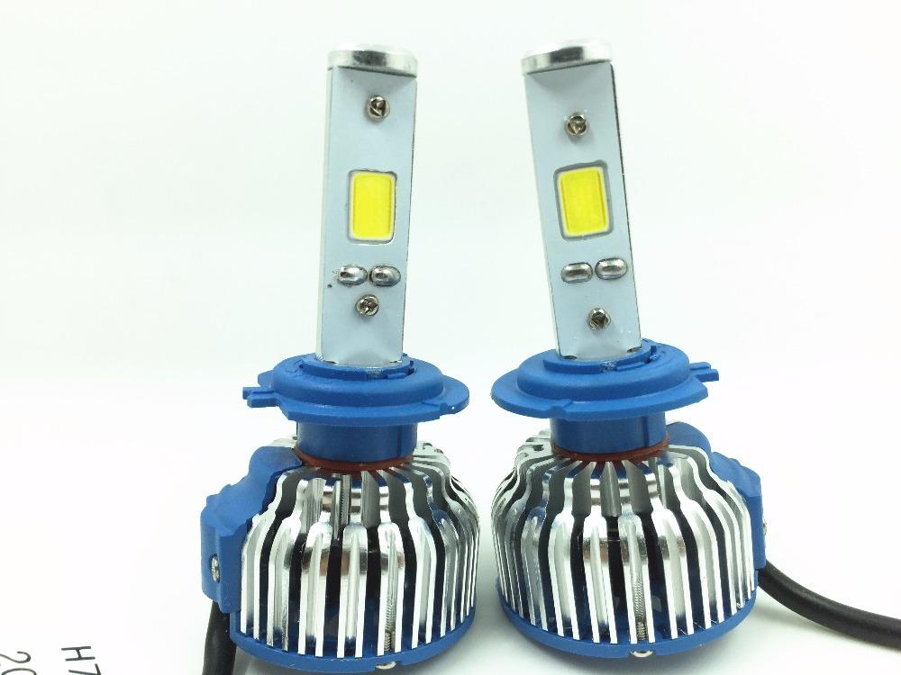 Auto Car COB H1 H3 H4 H7 H11 9005 9006 881 880 Replacement LED Headlight Kit Bulb Hi Lo Beam 60W 6400lm 6000K 12V Xenon White(China (Mainland))