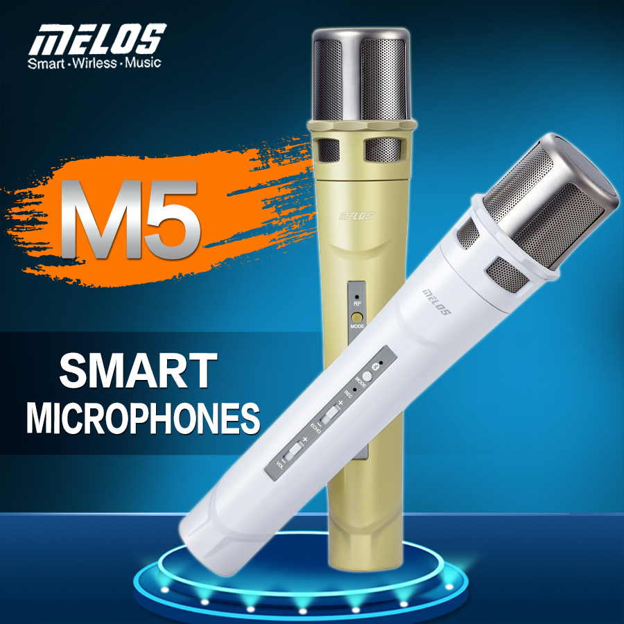 New Product One With Two M5 Smart Karaoke/Wireless Microphone /Condenser Recording Mic for Speech Meeting Home KTV DJ Stage etc(China (Mainland))