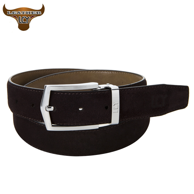 [LCY] Mens Belts Luxury 100% Real Leather Belts for Men Eco-Friendly Designer Pin Buckle Suede Leather cinturones hombre 350324(China (Mainland))