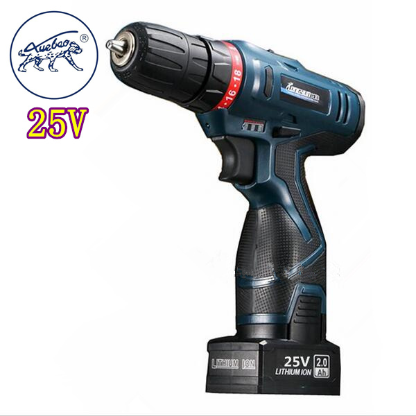 25V lithium battery drill hole hand Wireless Cordless electric drill bit driver charger cordless electric screwdriver power tool(China (Mainland))