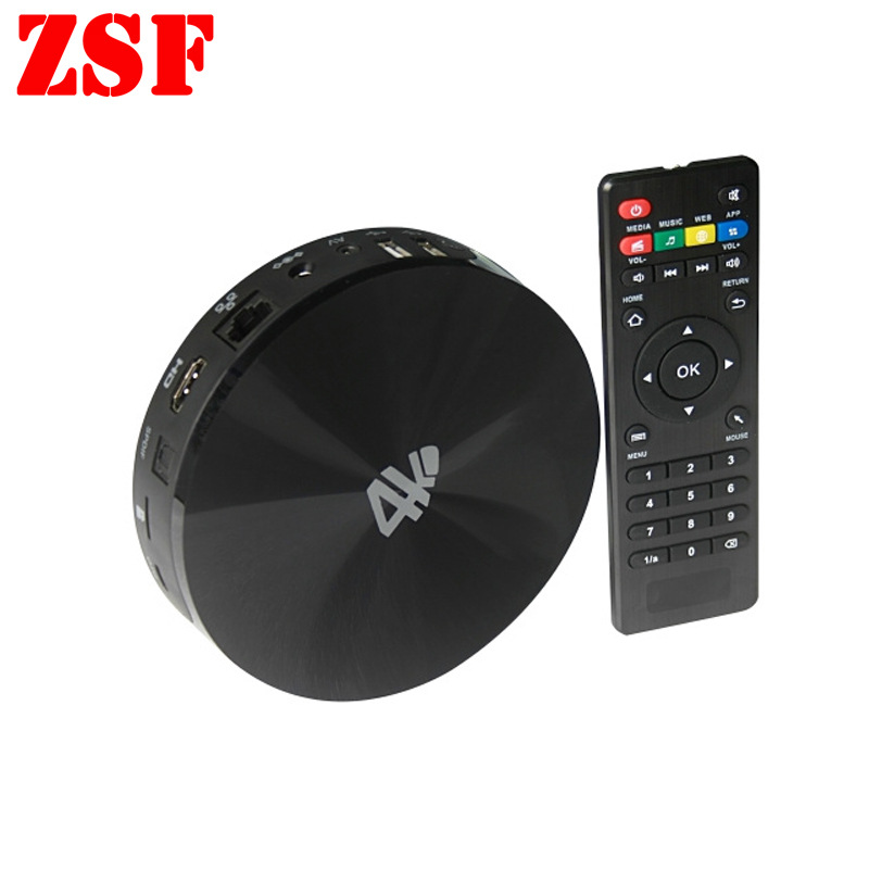 Wireless WiFi / TV top box TV BOX S82 Android quad-core Amlogic S802 2G / 16G 4K Network HD Player TV Box fly air mouse(China (Mainland))