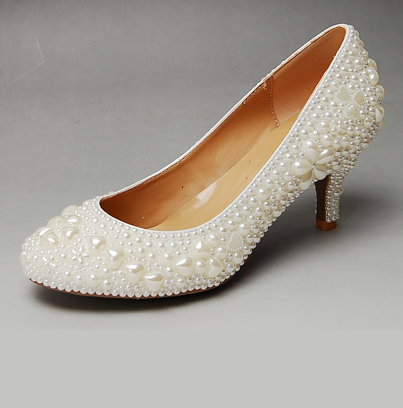 Top-Quality-women-genuine-leather-shoes-white-wedding ...