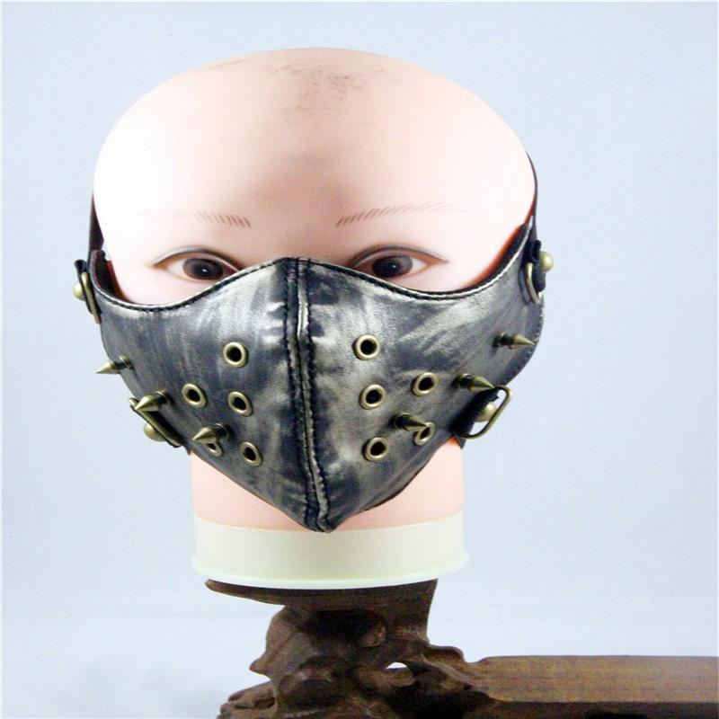 10pcs/Pack new punk maskeler elevation-training-mask-2.0 black anime mouth masks rivet realistic-masks motorcycle face mask