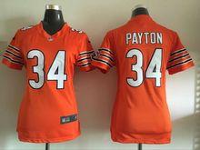2016 Women Chicago Bears, 34 Walter Payton Kyle,17 Alshon Jeffery 22 Matt Forte Orange navy,(China (Mainland))
