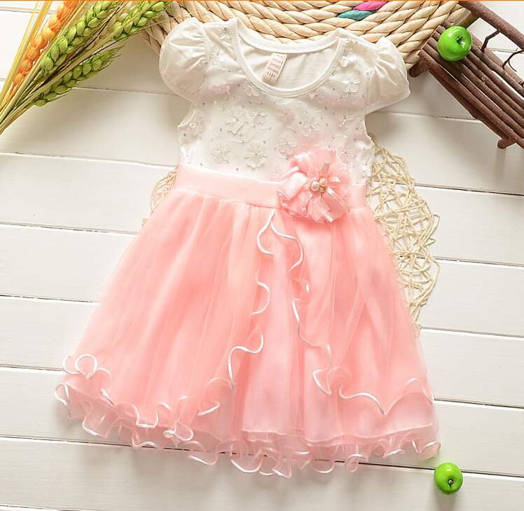 2015 New Summer Baby Girl Dress Lovely Princess Party Dresses Sweet Children's Dresses Ball Gown(China (Mainland))
