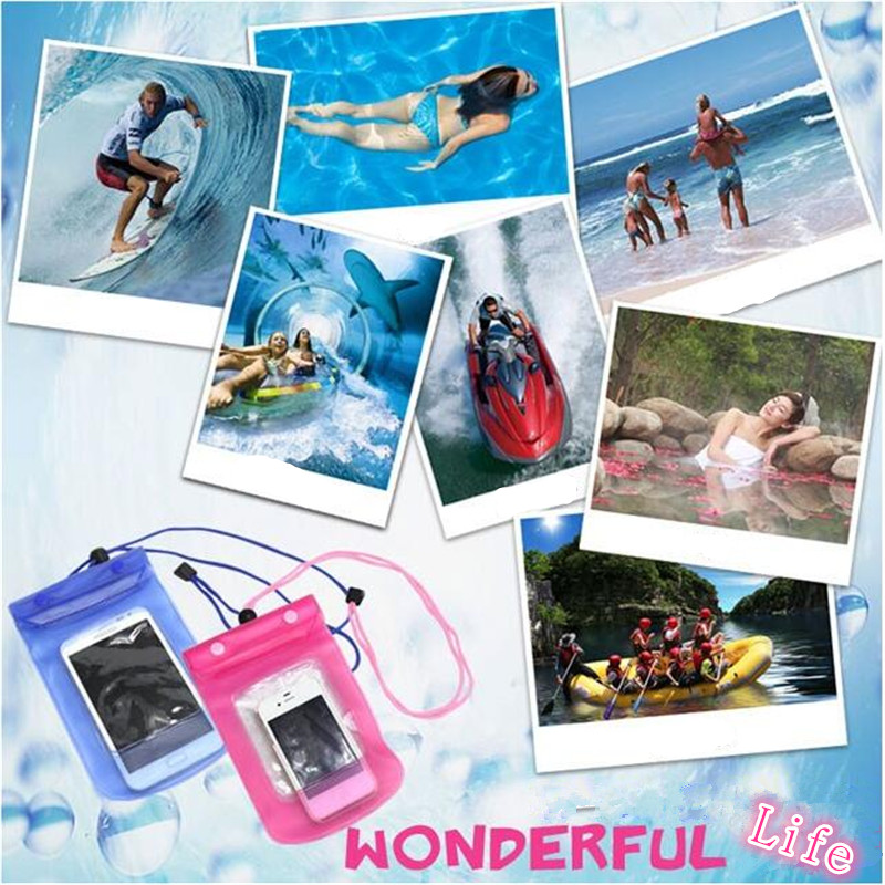 PVC mobile phone waterproof bag, iPhone and Samsung mobile phones can be used, the size of 25 * 10 F2(China (Mainland))