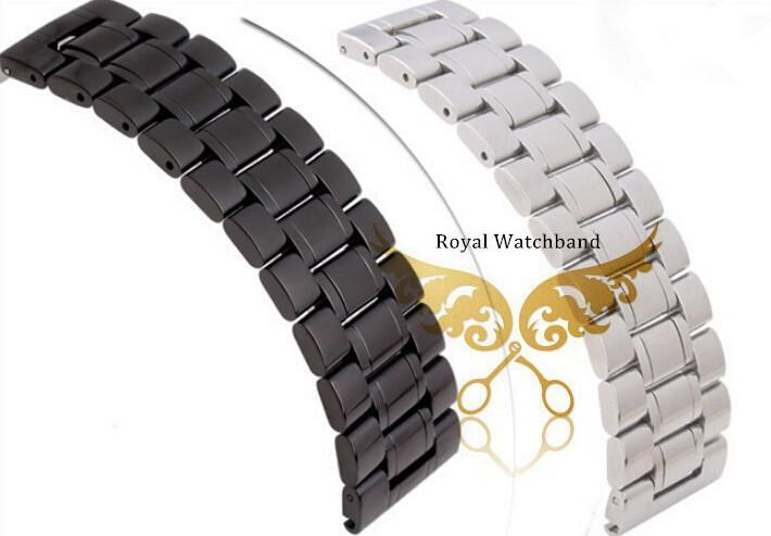18 мм 20 мм 22 мм 24 мм 26 мм 28 мм 30 мм новых людей черный серебряный полированной нержавеющей стали Replackment часы ремень браслеты DZ7257S