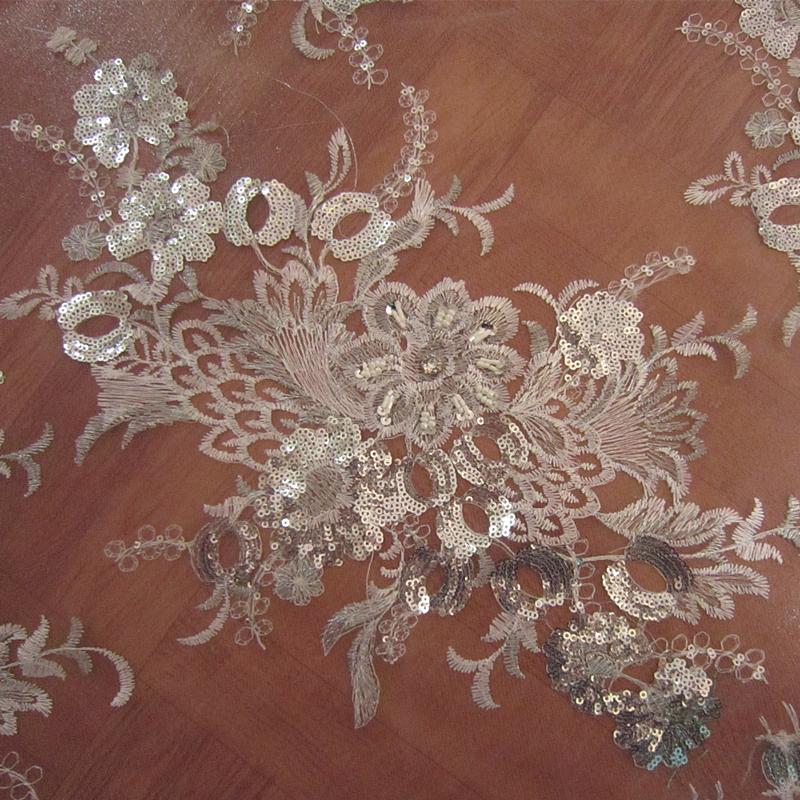 Aliexpress buy luxury meters siver white sequins