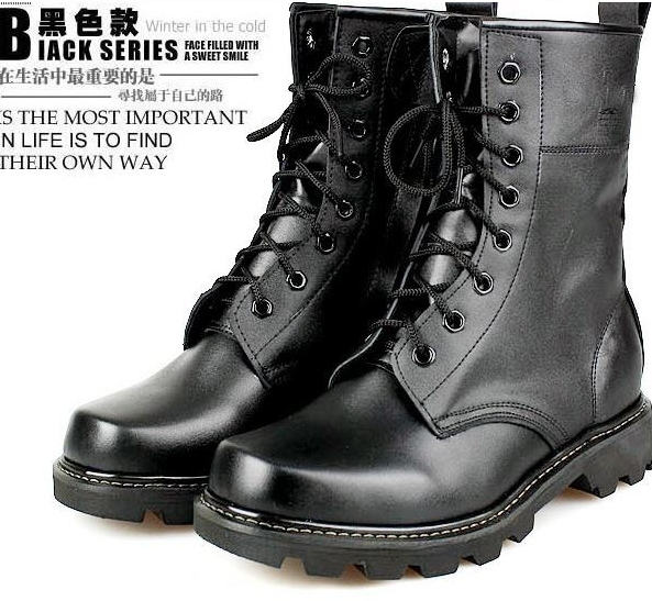 2014 Size 38-44 Winter Men Retro Army Boots Young Boys Fashion Motorcycle Genuine Leather Snow