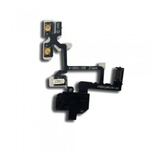 Headphone Audio Jack Volume Flex Cable Ribbon For Iphone 4 4G Free Shipping