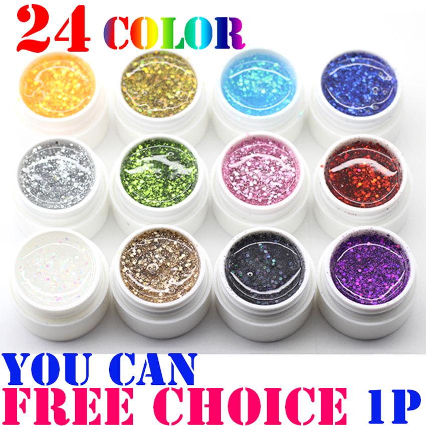 24 Colors Free choice Perfect Polish Gel Long-lasting Soak-off UV big nail Glitter Summer Nail Gel Soak off Lacquer<br><br>Aliexpress