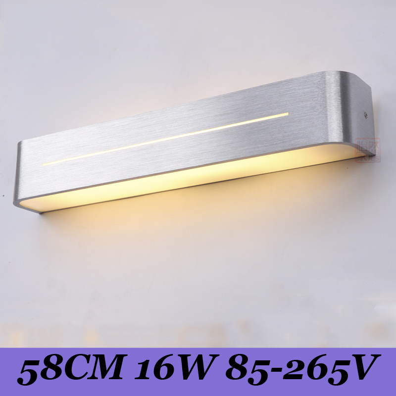 LED lens headlight lamp of contemporary and contracted bathroom toilet mirror lamp 58 cm aluminum lens headlight 16 w