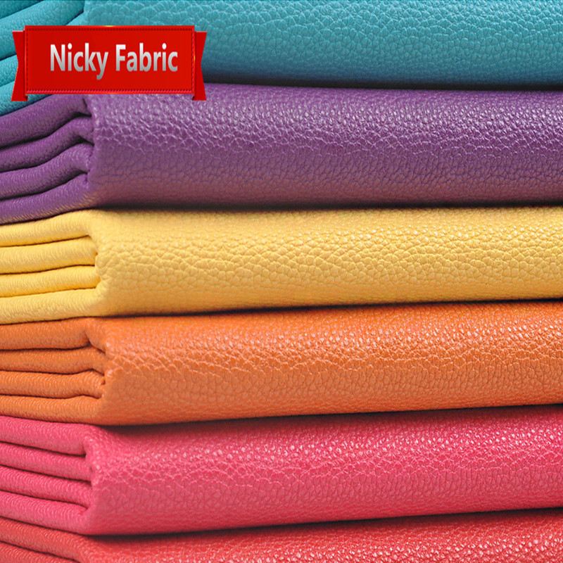 PU Faux Leather Fabrics Eco-friendly Leather Sofa PU Artificial Leather for sewing DIY Material Hair Accessories Leather Skin(China (Mainland))