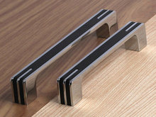 "3.75"" 5"" 6.3"" Modern Silver Black Kitchen Cabinet Door Handles Dresser Pull Drawer Handle Pulls Knobs Chrome Handle Pull(China (Mainland))"