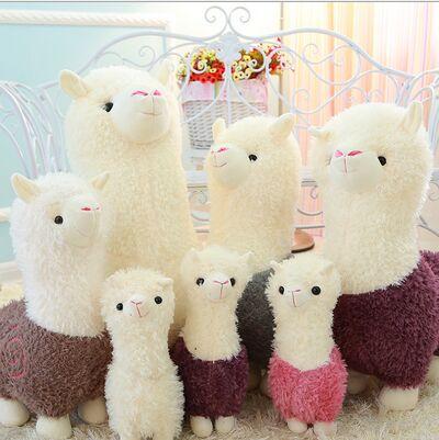 Alpaca Plush Doll Toy Fabric Sheep Stuffed Animal Plush Llama Yamma Birthday New Year Christmas Gift For Baby Kid Children(China (Mainland))