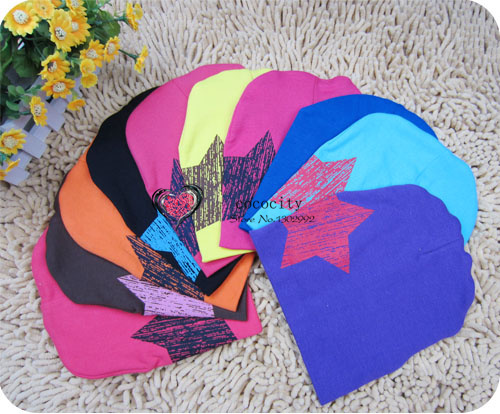 HOT NO 1 lowest price free shipping fashion star baby hats beanies winter hats ,children hats cute kids cap wholesale(China (Mainland))