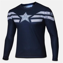 Buy ILPALADINO Cycling High NEW 2017 Marvel 17 America costume bike Hero T-shirt Men USA clothing long sleeves XS- 4XL b for $8.36 in AliExpress store