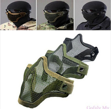 Hot new arrival Half Lower Face Metal Steel Net Mesh Hunting Tactical Protective Airsoft Mask(China (Mainland))
