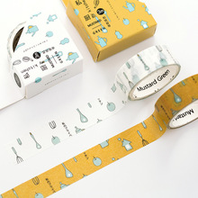 Buy 24 pcs/lot DIY Japanese Paper Decorative Adhesive Tape Cartoon kitchen Washi Tape/Masking Tape Stickers Size 15mm*3m for $18.89 in AliExpress store