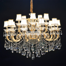 NEW! Free Shipping 15 Arms Italian Chandelier Crystal Lamp , with Royal Luxury Zinc Alloy Arms (A CLRB8130-15S) D1100mmXH850mm(China (Mainland))