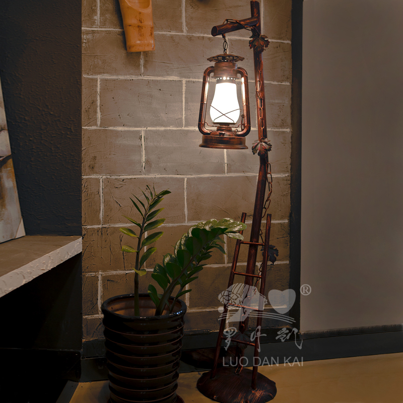Chinese Iron Horse Retro Bedroom Floor Lamp Lighting Living Room Decor Ideas Idyllic American