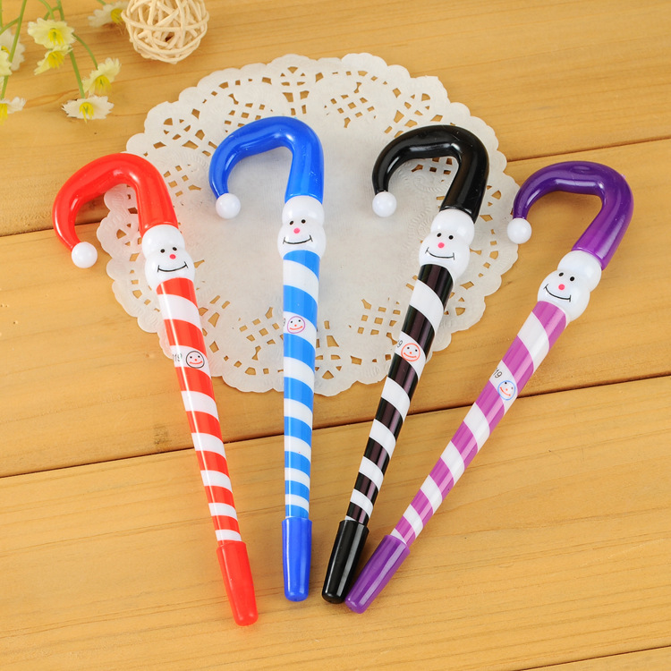 Гаджет  Christmas snowman pens, umbrellas pen, advertising pen cute gift stationery student stylos Stifte canetas penne qalimaan None Офисные и Школьные принадлежности