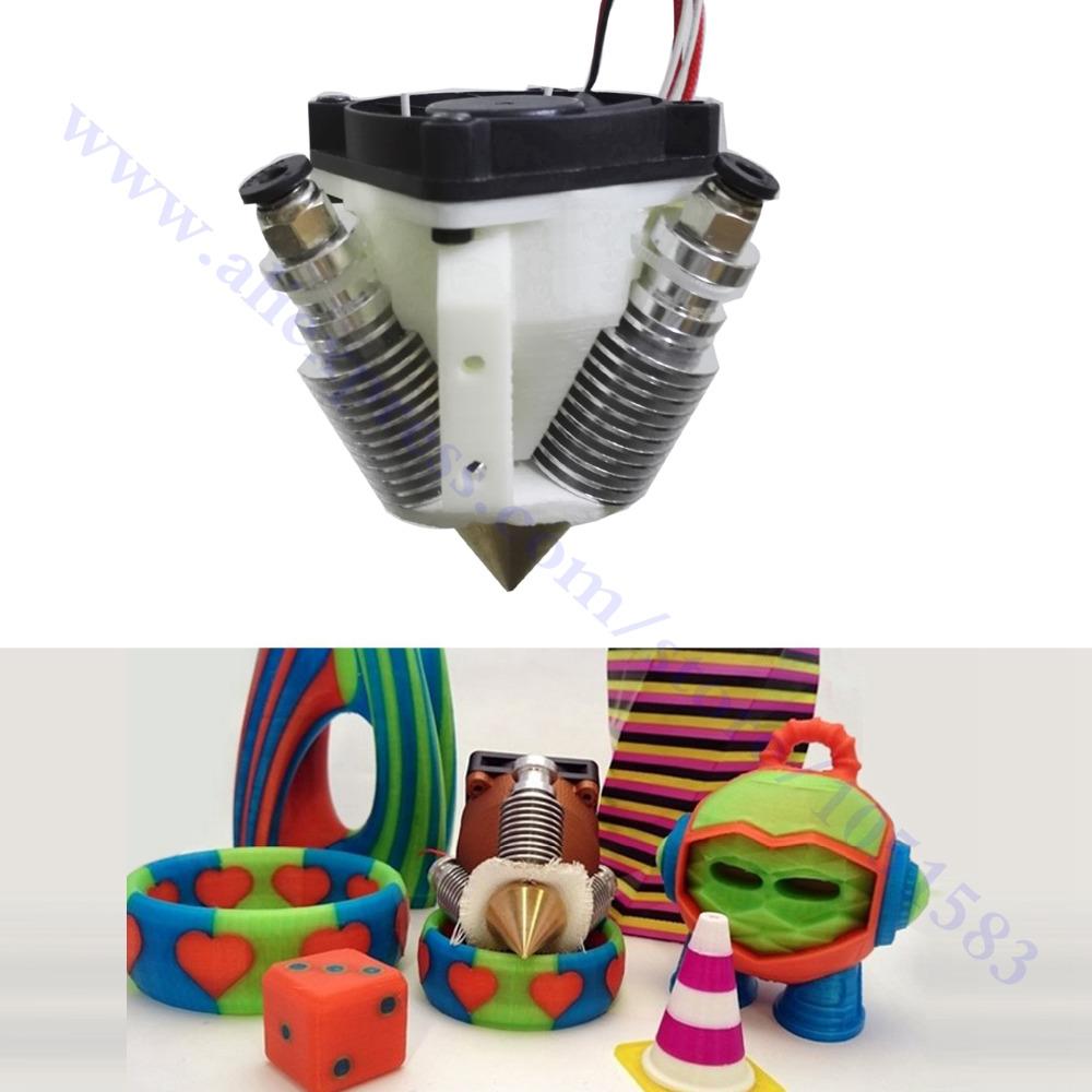 Reprap 3D Printer Diamond Hotend Multi Color Hot End 3 IN 1 OUT Extruder Prusa I3