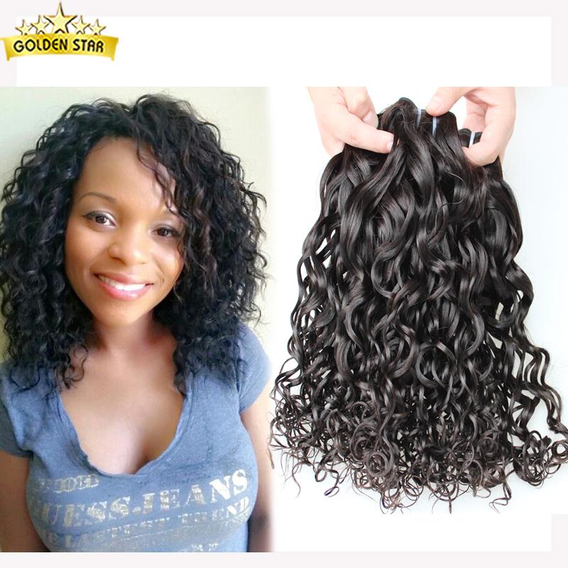Virgin Indian Deep Curly Hair 4 Bundles 7a Raw Indian Water Wave Virgin Hair Indian Soft Curl Virgin 100% Human Hair Loose Curls<br><br>Aliexpress
