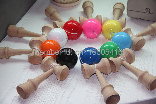Manufacturers selling Japanese traditional wooden toys kendama 18.5 cm skills ball sword sword jade carved LOGO for free(China (Mainland))