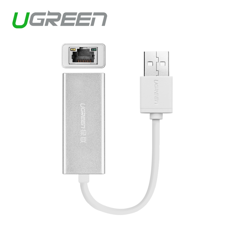 Ugreen USB 2.0 to RJ45 Lan Network Ethernet Adapter Card For Mac OS Android Tablet pc Laptop Smart TV Win 7 8 XP at 10/100Mbps(China (Mainland))