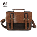 ECOSUSI Vintage Satchel Women Messenger Bags Retro Women Briefcase Crossbody Top Quality Women Leather Handbags Women