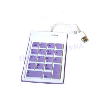 Flex cable Notebook keypad ultra thin and lightweight and compact external USB 18 Keys keypad keyboard 30PCS/LOT