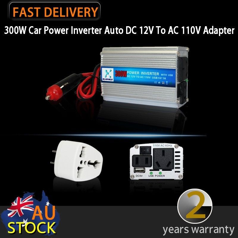 300W Car Power Inverter Auto DC 12V To AC 110V Adapter Voltage USB charger laptop iphone ipod(China (Mainland))