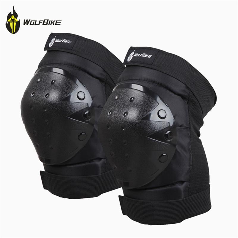 Black Wolfbike Knee support Knee Pads Skating Skiing Snowboarding Protector PVC+ Sponge Kneecap Kneelet Sport Fashion Free Size(China (Mainland))