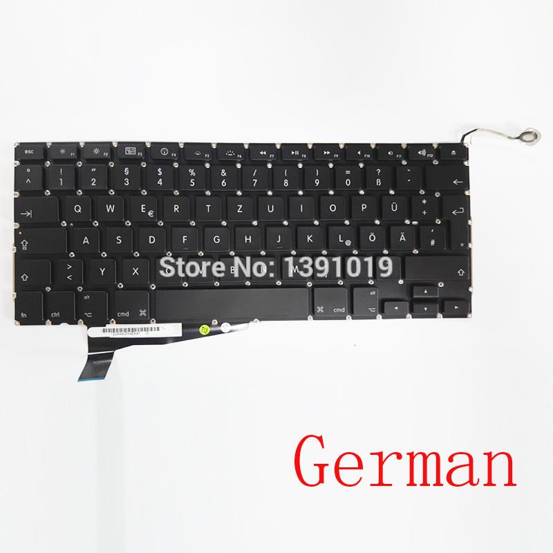 "New Original A1286 German Keyboards Laptop Repair Retina For Apple MacBook Pro 2008 Notebook Parts 15.4"" 15"" Replacement(China (Mainland))"