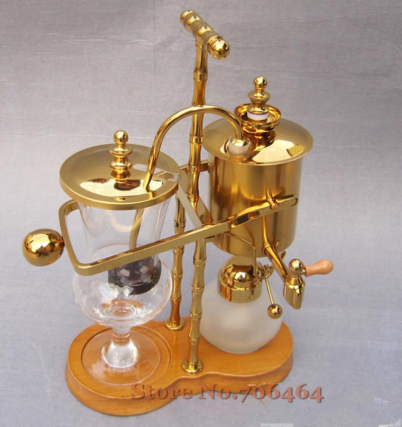 Gold Balancing syphon vacuum siphon coffee maker Belgium royal brewer coffee machine gold ...