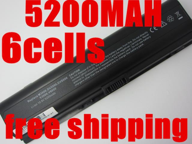 Laptop Battery For HP G6000 G7000 Pavilion dv2000 dv6000 dv2000T dv6000T dv2000Z dv6000Z dv2100 dv6100 dv2200 dv6200 dv2300(China (Mainland))