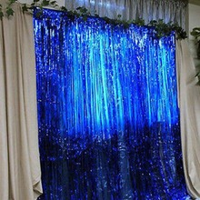 Buy 1pcs 92*245CM Shimmering Tinsel Curtain Foil Room Shiny Pub party Stage Backdrop Background Wedding Decoration for $3.56 in AliExpress store