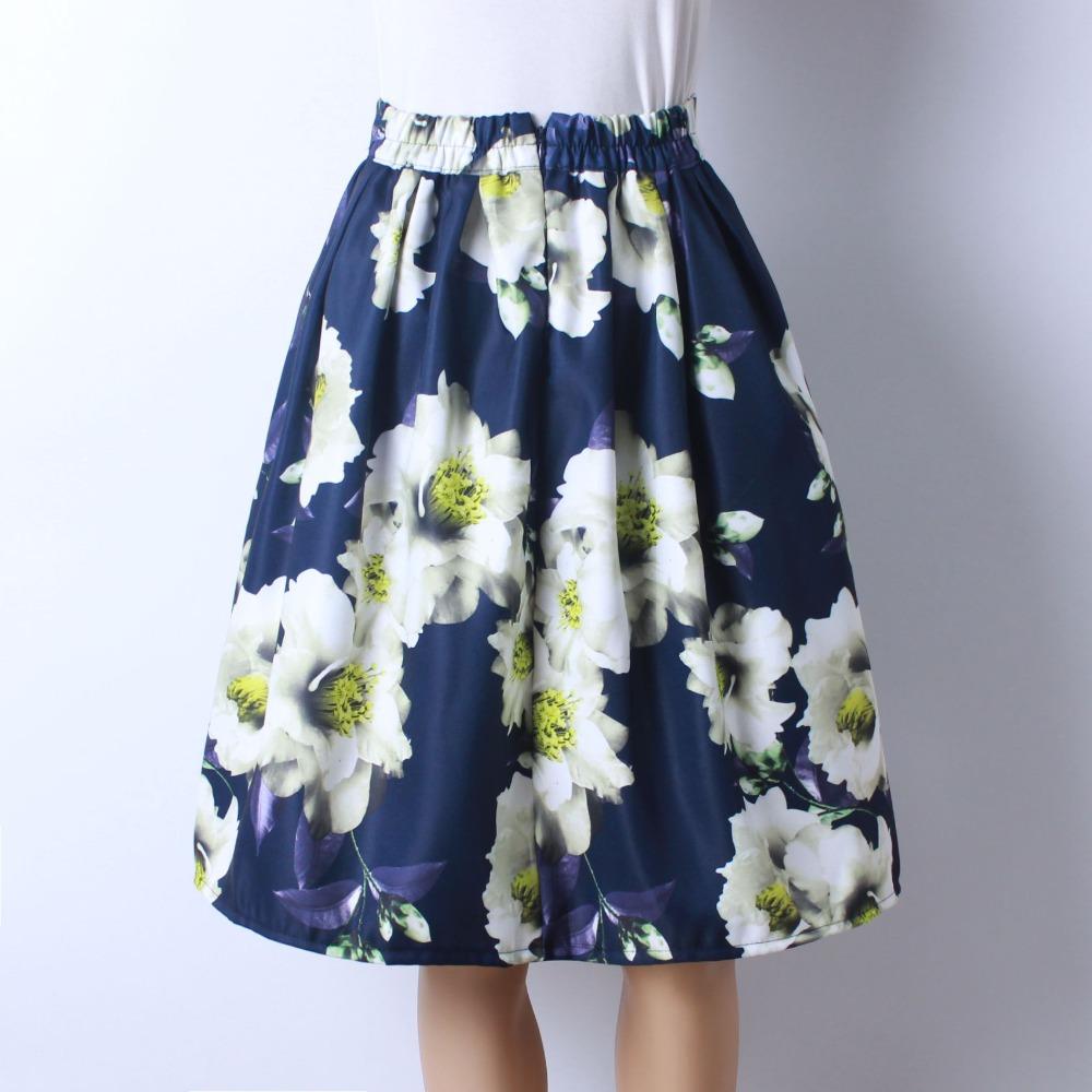 HTB1hyX8QFXXXXbLaXXXq6xXFXXX8 - GOKIC 2017 Summer Women Vintage Retro Satin Floral Pleated Skirts Audrey Hepburn Style High Waist A-Line tutu Midi Skirt